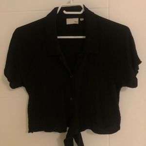 Wilfred cropped tie blouse